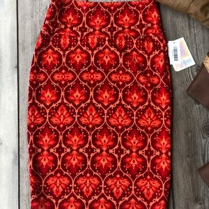 LuLaRoe Skirts - LulaRoe Multicolored Stretch Pencil Skirt Size XS